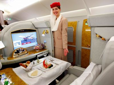 Z Prahy do Dubaje s Emirates A380